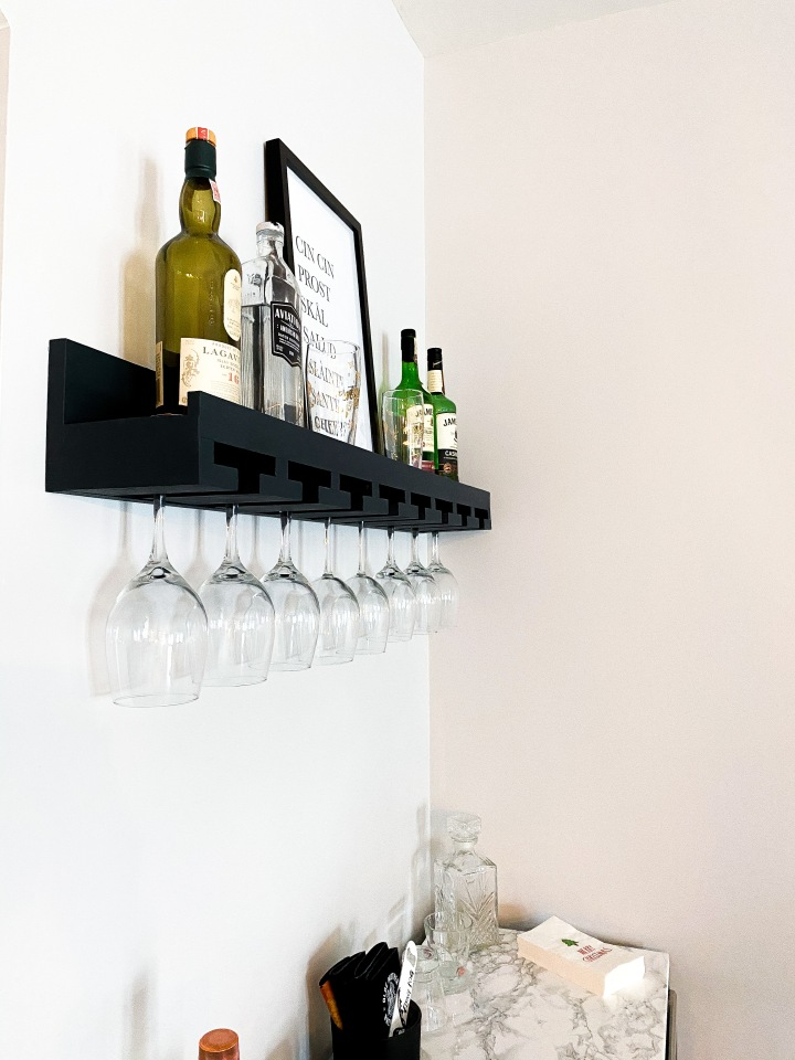 Updated Bar Cart and WineRack